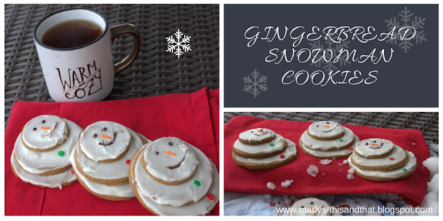 Make snowman in the warmth of your kitchen with gingerbread and white chocolate