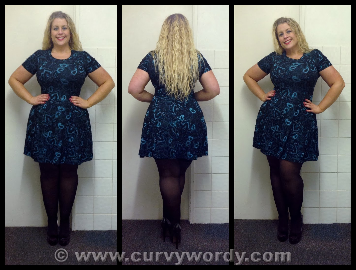 Gold black dress asda clothing