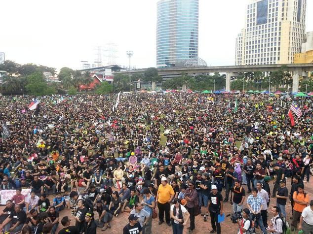 Gambar Sekitar Perhimpunan Blackout 505