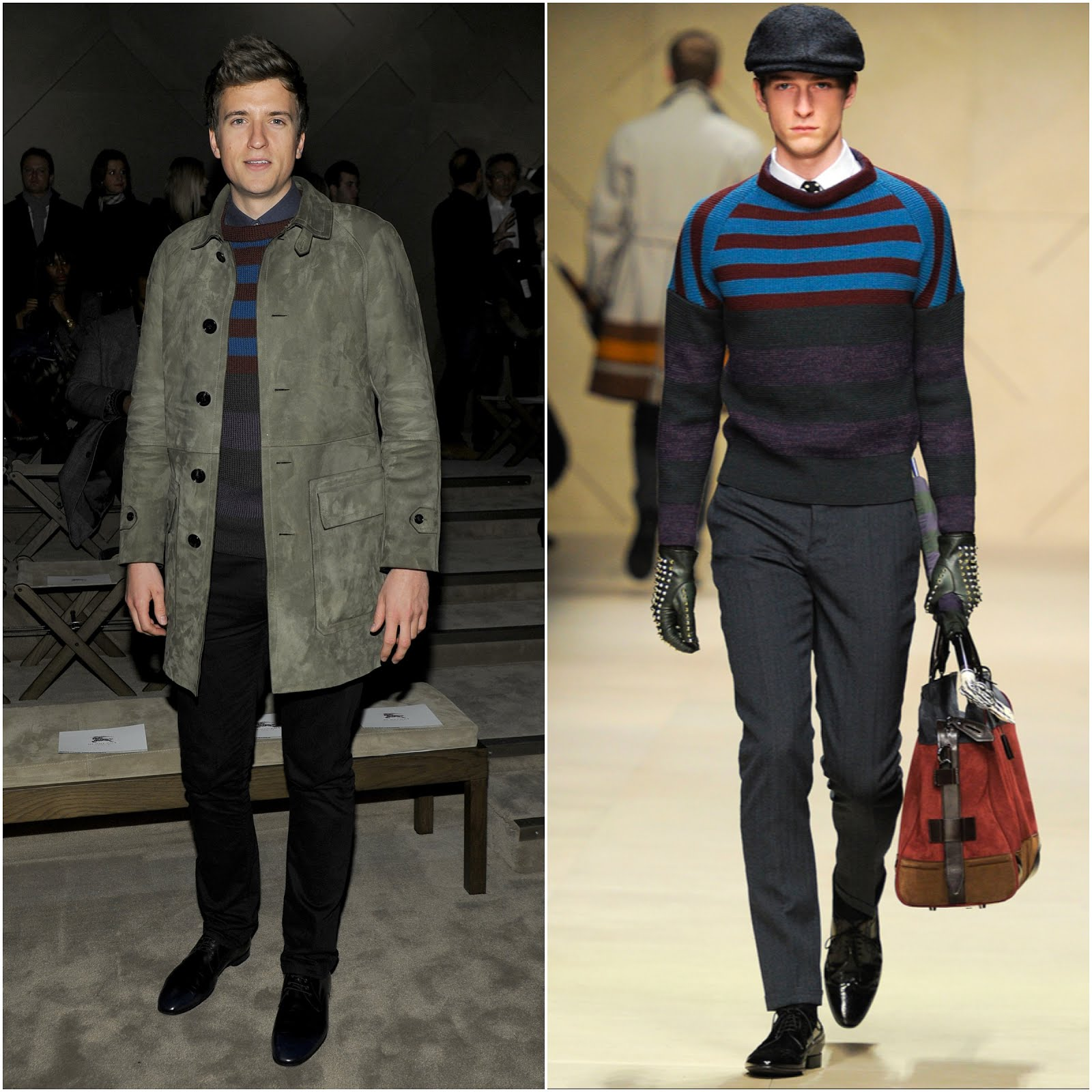 00O00 Menswear Blog Greg James in Burberry - Burberry Prorsum Menswear FW2013, #MFW