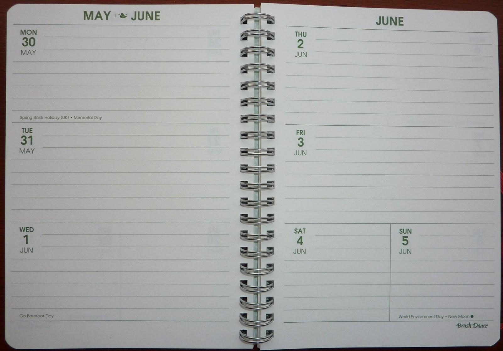 Date book planner in Australia