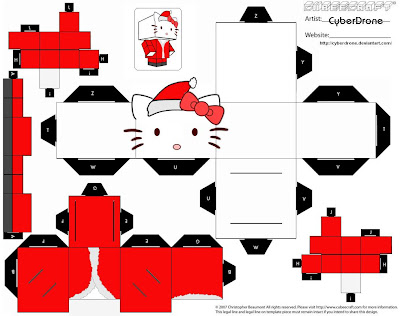 Hello Kitty Santa Cubee box toy Christmas tutorial