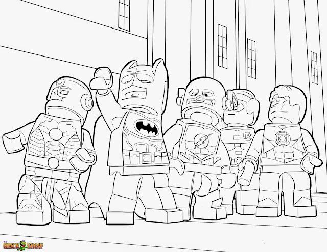 Super Hero in Lego Suit