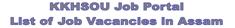 KKHSOU Job Portal