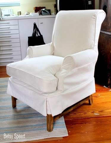 How To Sew A Chair Slipcover...sort Of.