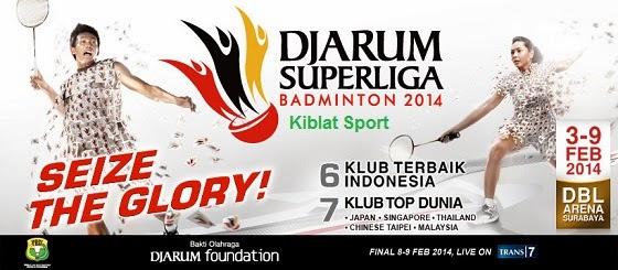 Hasil Skor Pertandingan Djarum Superliga Badminton 2014
