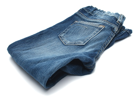 folded pair of blue jeans | Scratchpad | Pinterest