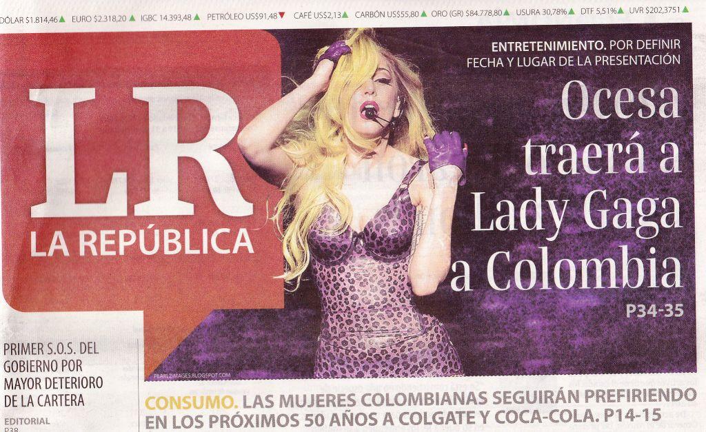 confirmada la presencia de gaga en colombia news confirmada la presencia de gaga en colombia news