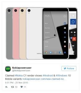 spesifikasi Nokia C1 Dualboot Android dan Windows 10
