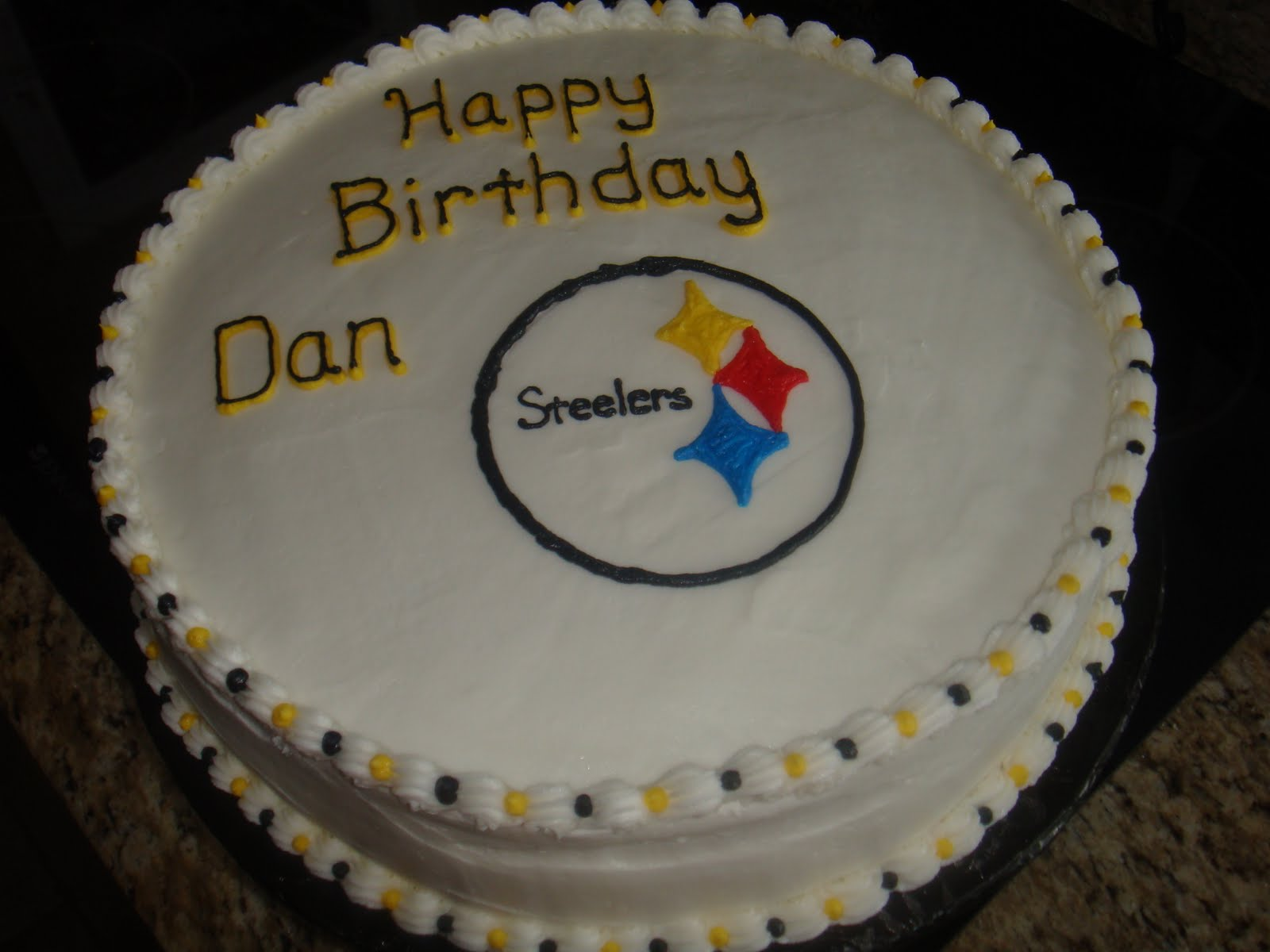 Vickis Sweet Treats Dans Pittsburgh Steelers Cake