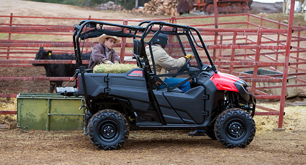 2014 Honda Pioneer 4 at work.