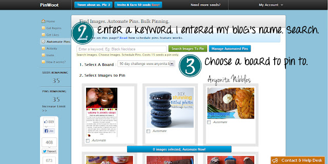Autoschedule your pins on Pinterest steps 2 and 3 from www.anyonita-nibbles.com
