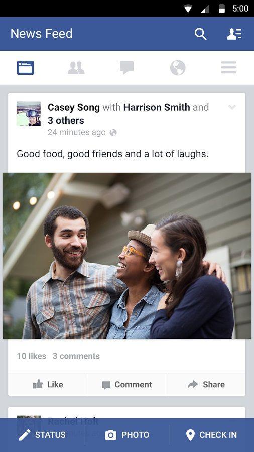 nueva actualizacion faceboock