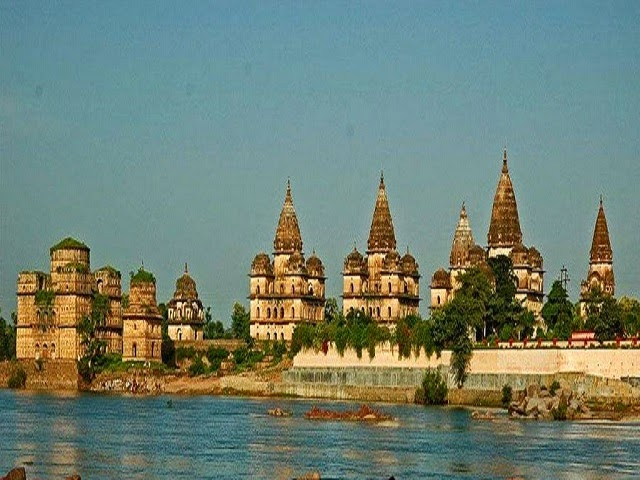 Betwa river in Orchha