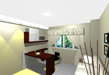 Interior Home Decoration: Study Room Interior Pictures