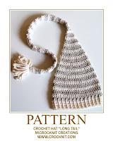 crochet patterns, how to crochet, long tail, pixie, elf, baby hats, newborn,