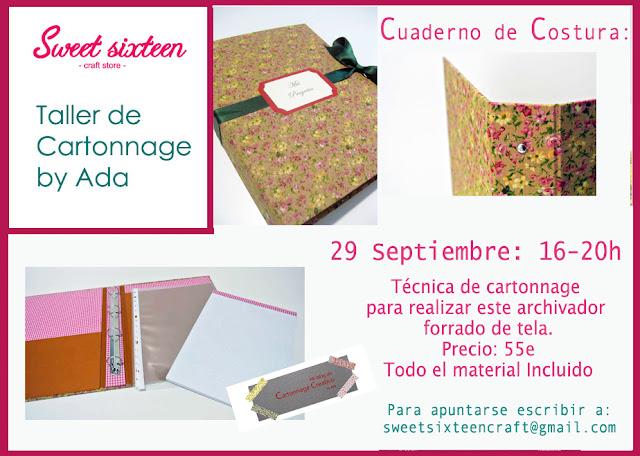 Taller de Cartonnage: Cuaderno de Proyectos en Sweet sixteen craft store Madrid