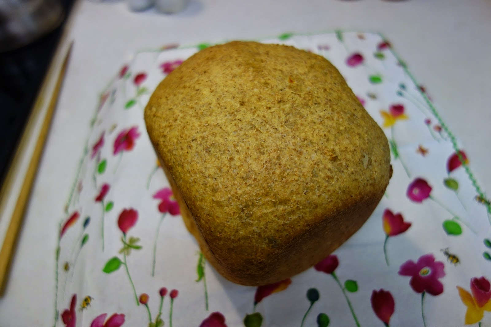 家庭用パン焼き器 HB で作った低糖質パン 糖質制限ダイエットにどうぞ  ホームベーカリー(パナソニックSD-BH105 HB)で焼きました 低糖質 糖質制限 ダイエット メニュー 作り方 レシピ  パン焼き機 全粒粉 低糖類 ラカント パルスウィート バイタミックス ミキサー 乾燥大豆 大豆粉 卵 たまご  砂糖を使わない 簡単 グルテン 少な目 ふすま 衾 ブラン ラカンカット バター にんにく ガーリック