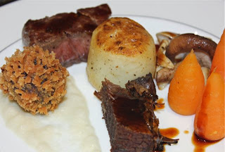 BEEF WITH ORANGE SPICED CARROTS