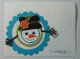 Snowman Telescope Card by StampLadyKatie