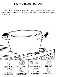 Atividades com receitas para o 1° ano - receita sopa