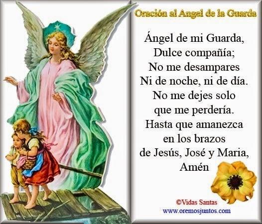 Oración Ángel de la Guarda