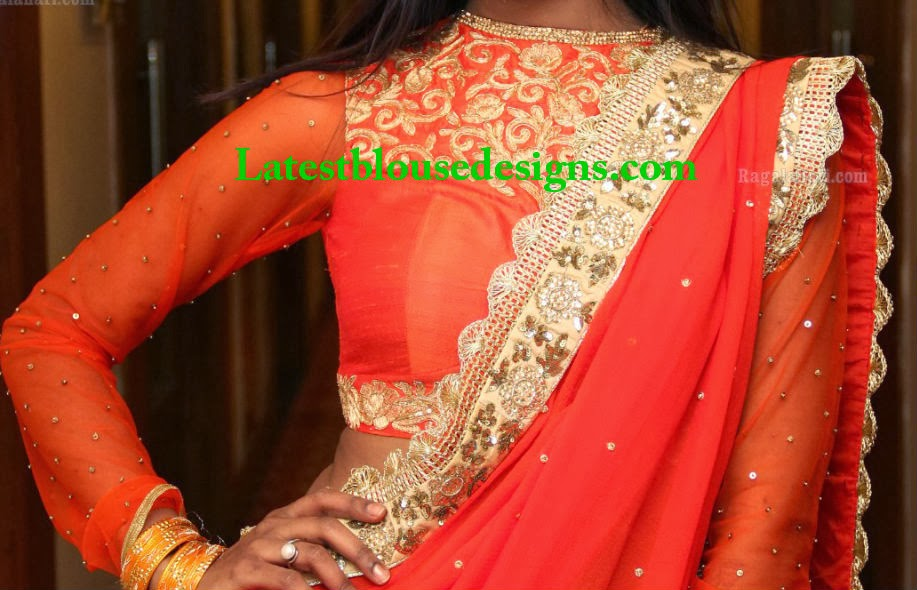 high neck blouse deigns