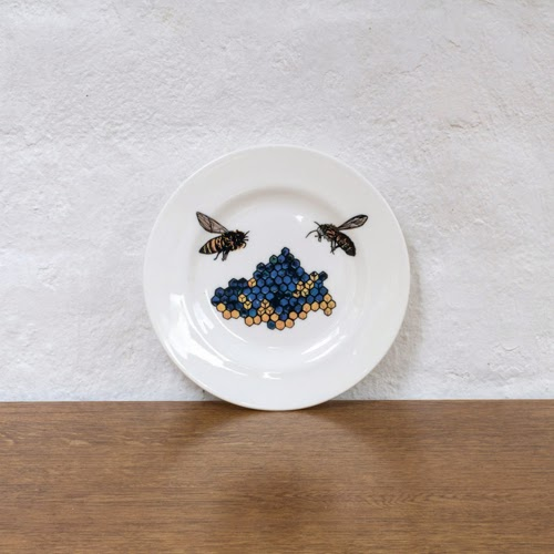 Handmade, designer hand crafted plate