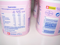 Valores nutricionales del yogur estilo griego desnatado natural edulcorado DIA
