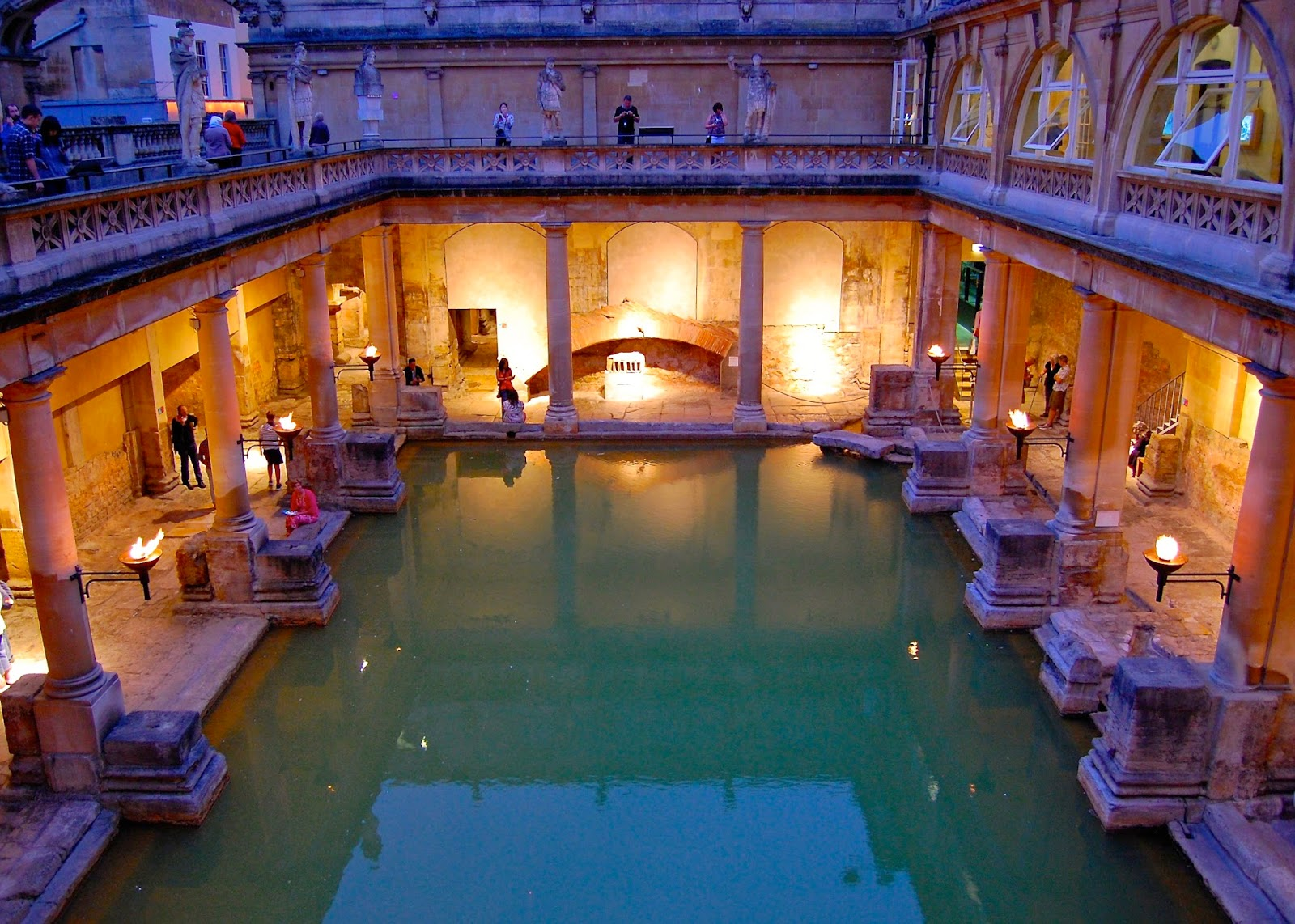 Roman spa from Aquae Sulis in Bath, England