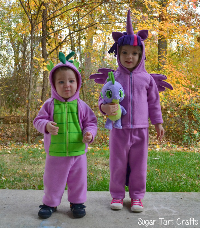 Twilight Sparkle and Spike the dragon children's costumes
