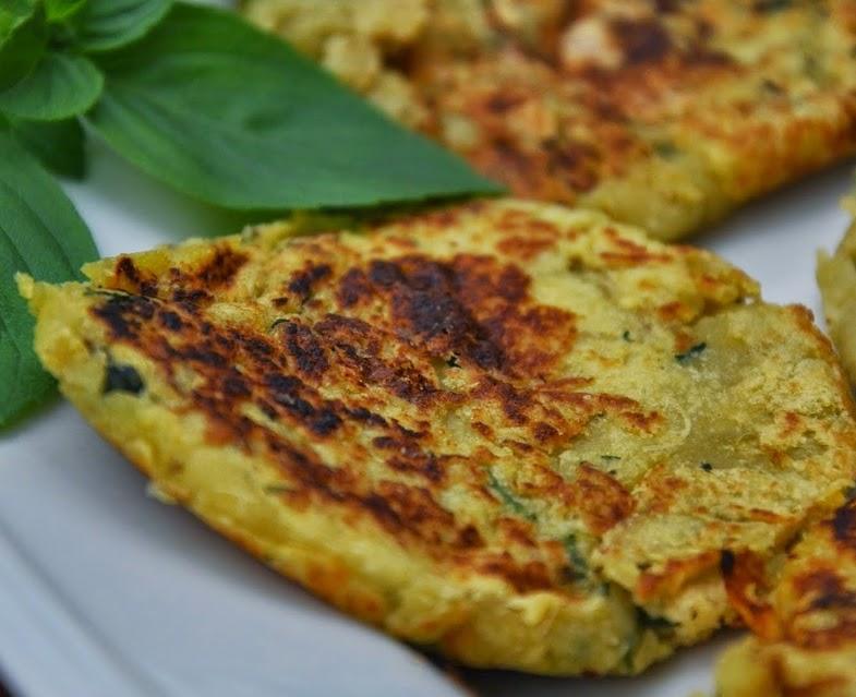 Bolinho de Batata-Doce e Manjericão (vegana)