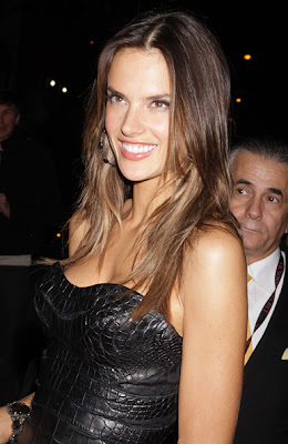 Alessandra Ambrosio Long Center Part Hairstyle