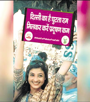 When AAP asked its Delhi MLAs to promote awareness about the odd/even traffic scheme, it did not expect them to resort to photoshop.    That is what the party's Chandni Chowk MLA Alka Lamba stands accused of.
