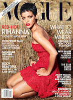 Rihanna red hot on the cover of  Vogue November 2012 Issue