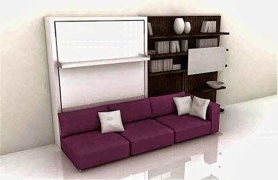 Sofa kecil minimalis, sofa ungi, bantal empuk