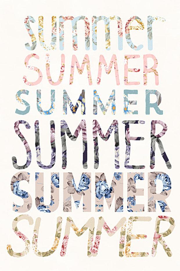 summer floral print