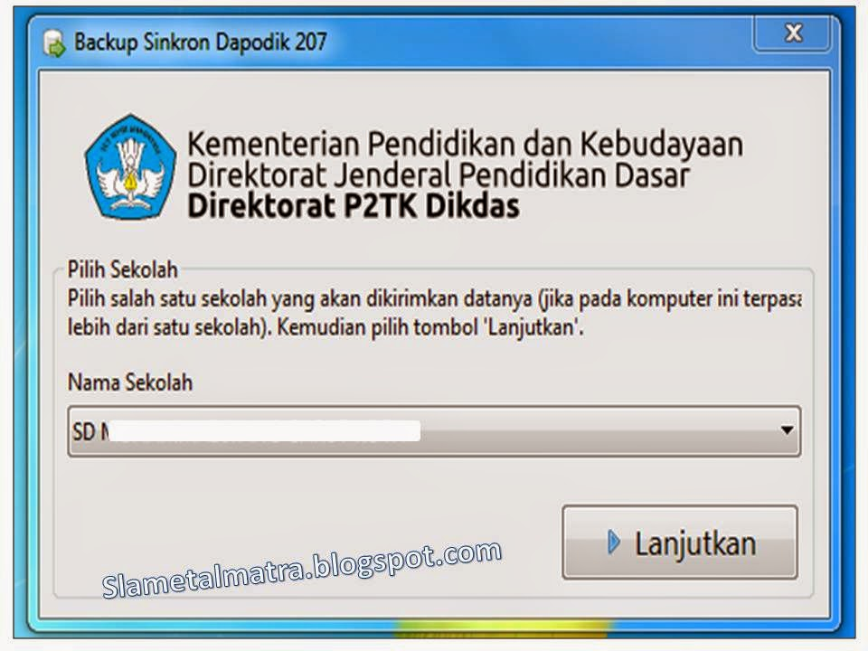 Backup Sinkron Dapodik Bsd Versi 2 07