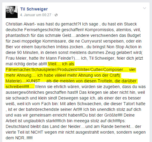 Arrogant Till Schweiger