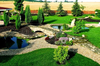 Model taman yang indah