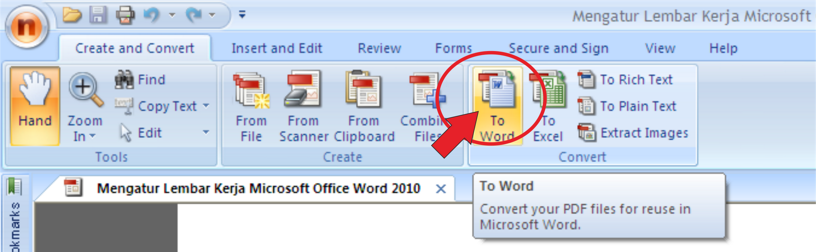 how to open a pdf file in excel 2003