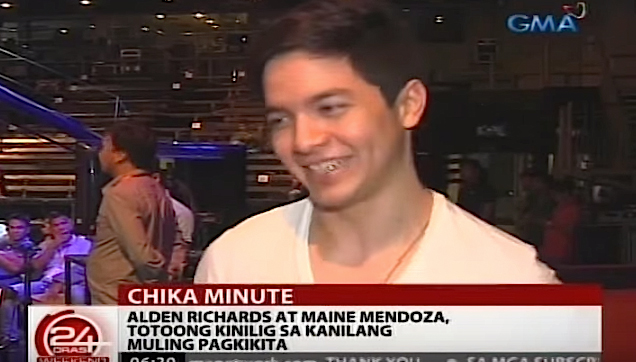 Alden Richards, Interview after his second meeting with Yaya Dub (Maine Mendoza)