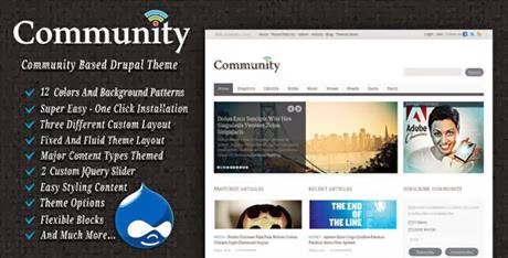 Community - Drupal Theme-bwtemplate