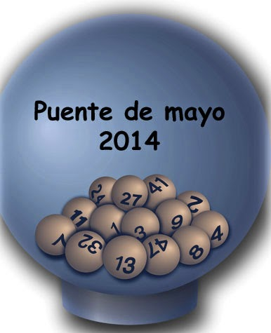 Puente de mayo 2014, resultados de los sorteos de loterias