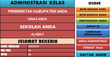 Paket Aplikasi Lengkap Untuk Sistem Pengadministrasian Sekolah Dasar (SD)