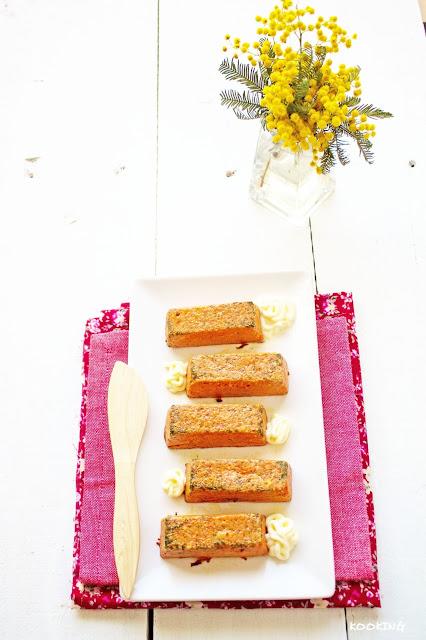 Mini pasteles de atún y pimientos