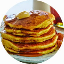 Moms' Night Out inspired: Bacon Cornmeal Pancakes recipe via @Emealz