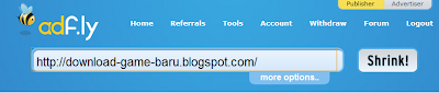 Cara memendekkan link dengan Adf.ly