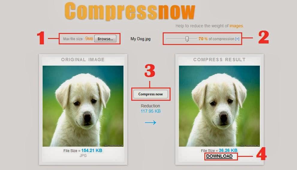 Compress image, kompresi gambar