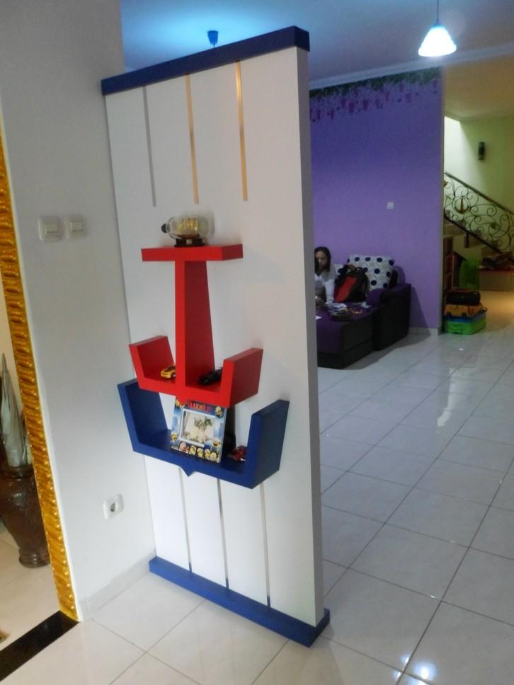 Jual Partisi Sekat Ruang Tamu di Semarang - Custom Furniture Semarang